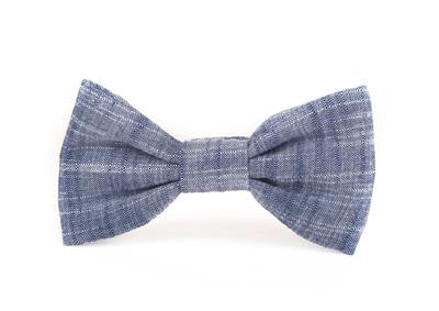 Chambray Dog Bow Tie