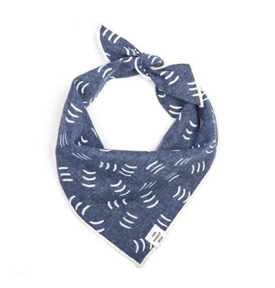 Denim Waves Dog Bandana