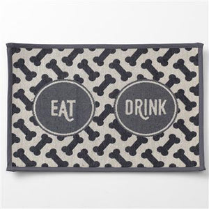 Placemat - Eat Drink, Gray Tapestry Placemat