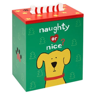 Hand Painted Collection - Naughty or Nice Dog Treat Box