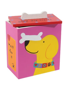 Hand Painted Collection - Wait for it Dog Treat Box