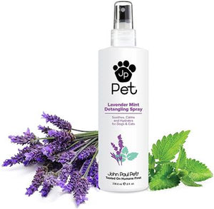 John Paul Pet - Lavender Mint Detangling Spray w/ Brush Set