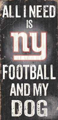 NY Giants Wood Sign