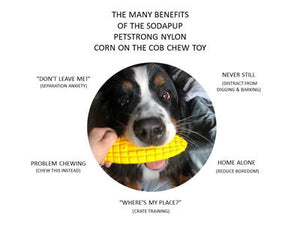 SodaPup Nylon Corn on the Cob Ultra Durable Dog Chew Toy