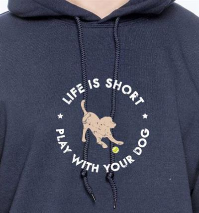 Life Is Short / Play with Your Dog Hoodie
