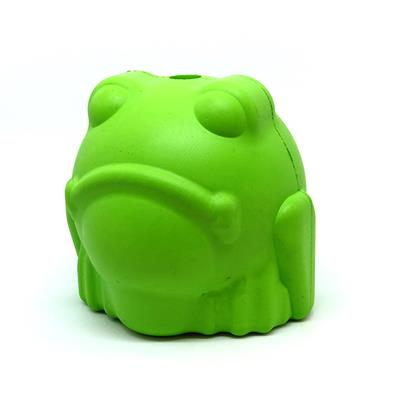 MuttsKickButt by SodaPup Natural Rubber Bull Frog Shaped Chew Toy and Treat Dispenser for Aggressive Chewers