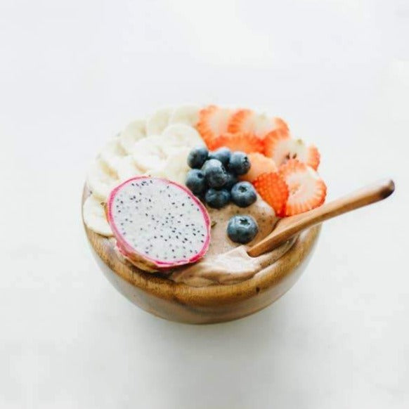 Wooden Smoothie Bowl with Spoon