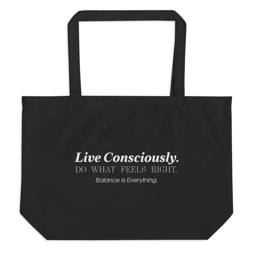 Load image into Gallery viewer, Live Consciously Organic Tote