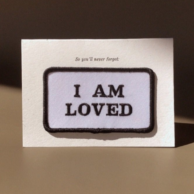 I Am Loved Card W/ Patch