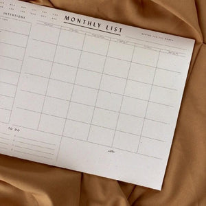 Monthly Desk Planner Moon Lovers Society