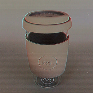 Free Your Sol Reusable Glass Mug Moon Lovers Society