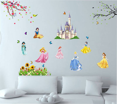 Disney Princess Wall Sticker (102 cm X 120 cm)