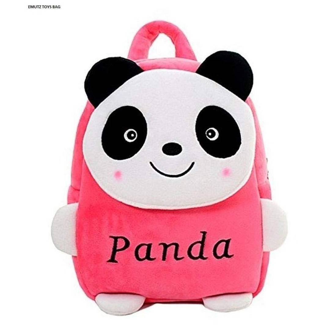 Panda Design Pink School Bag for 2 to 5 Age Kids
