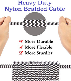 Braided Tough Micro USB Data Cable with Fast Charging
