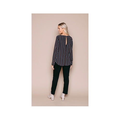 Orb Laurie - Long Sleeve Woven Blouse