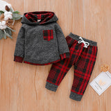 Plaid Track Suit