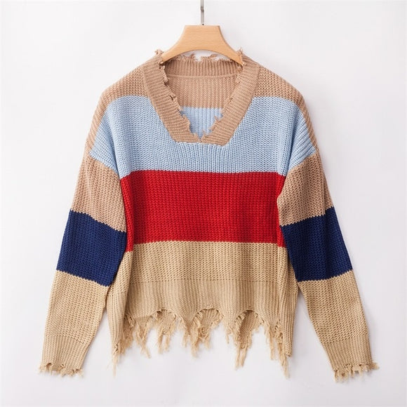 Rainbow Winter Top