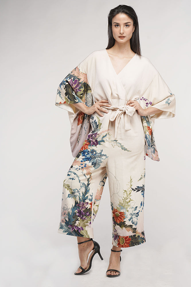 [MADE TO ORDER] Flowers Kimono Jump suit