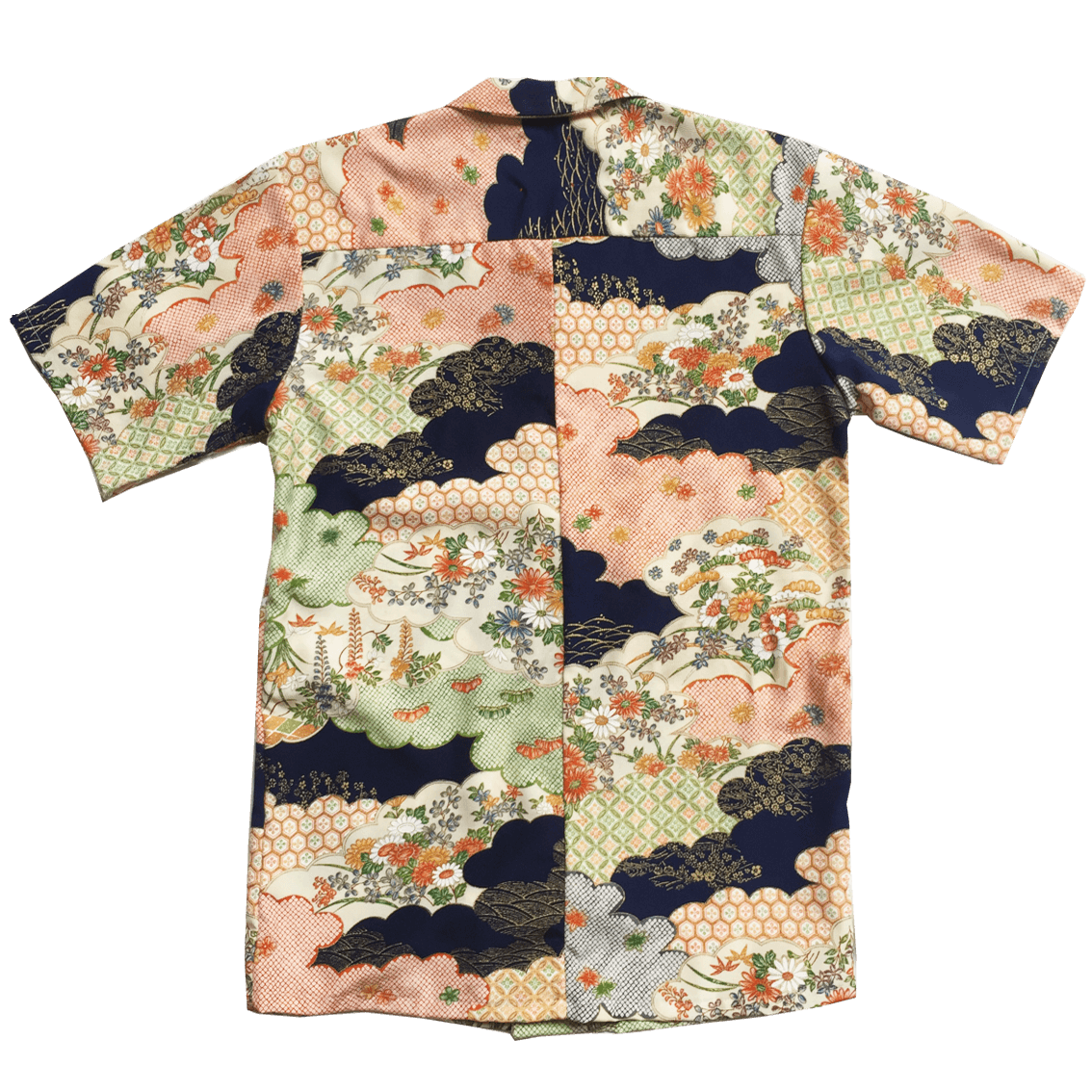 Kimono Resort Shirt-Flowers and Cloud