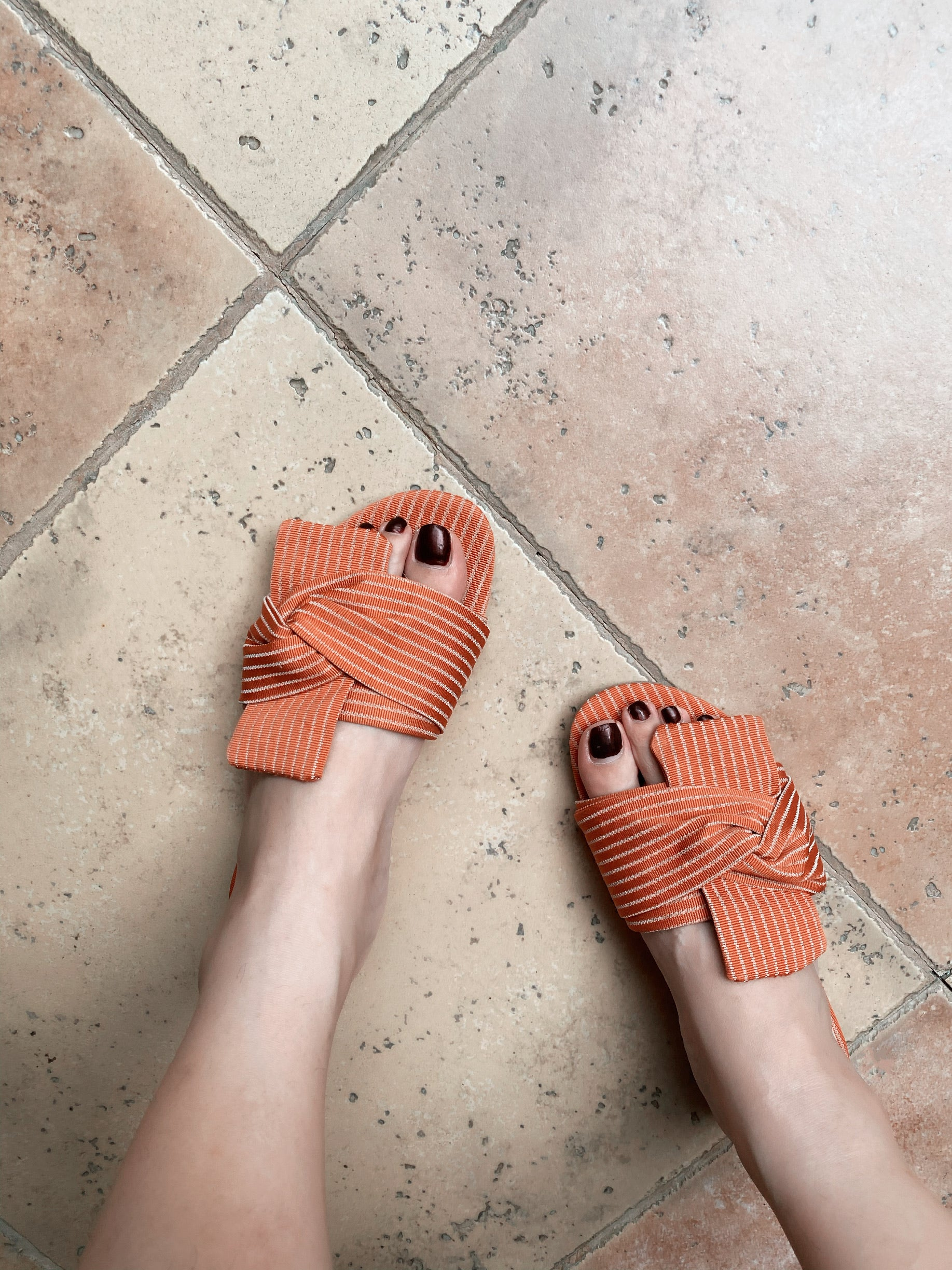 OBI RIBBON FLAT-ORANGE STRIPE