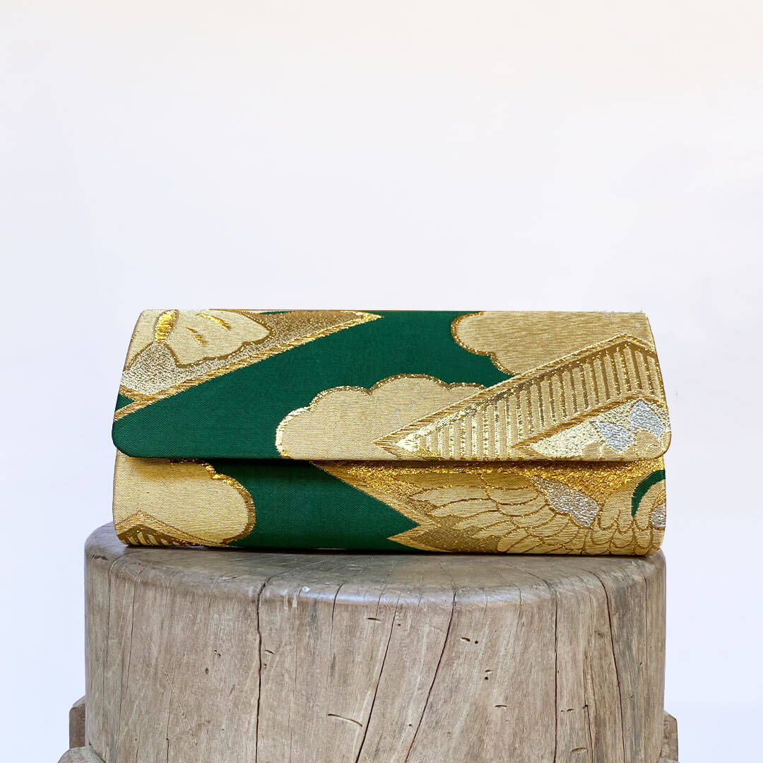 NEW! THREE WAYS CLUTCH-Deep Green