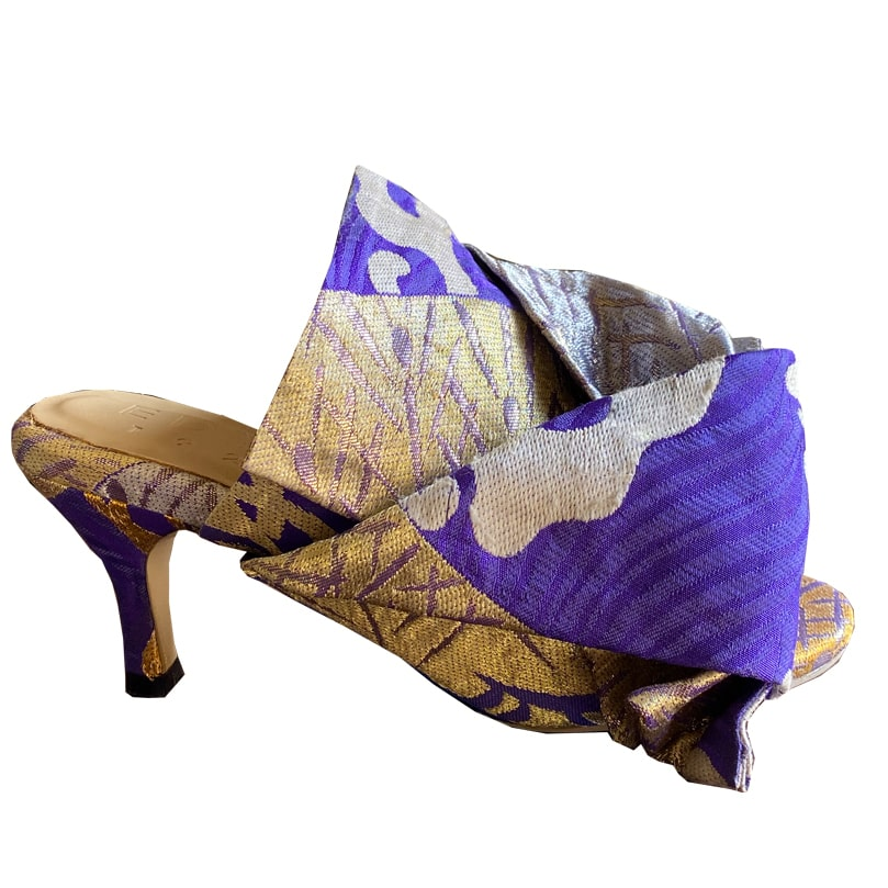 Obi Musubi Kitten Heel-Purple Blue
