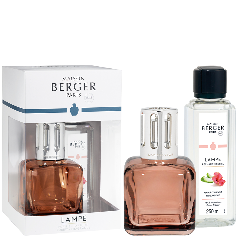 Maison Berger Ice Cube Amber Rose Lampe Gift Set
