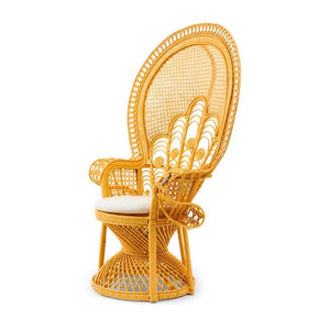 Riviera Maison Greenport Peacock Chair Yellow pávaszék