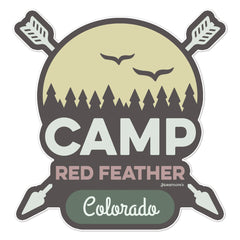 Camp Red Feather Sticker