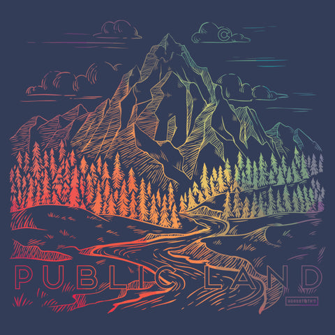 Public Land Color Burst Tee Shirt