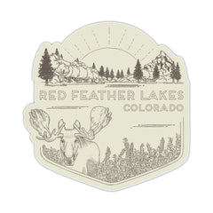 Red Feather Lakes Sticker