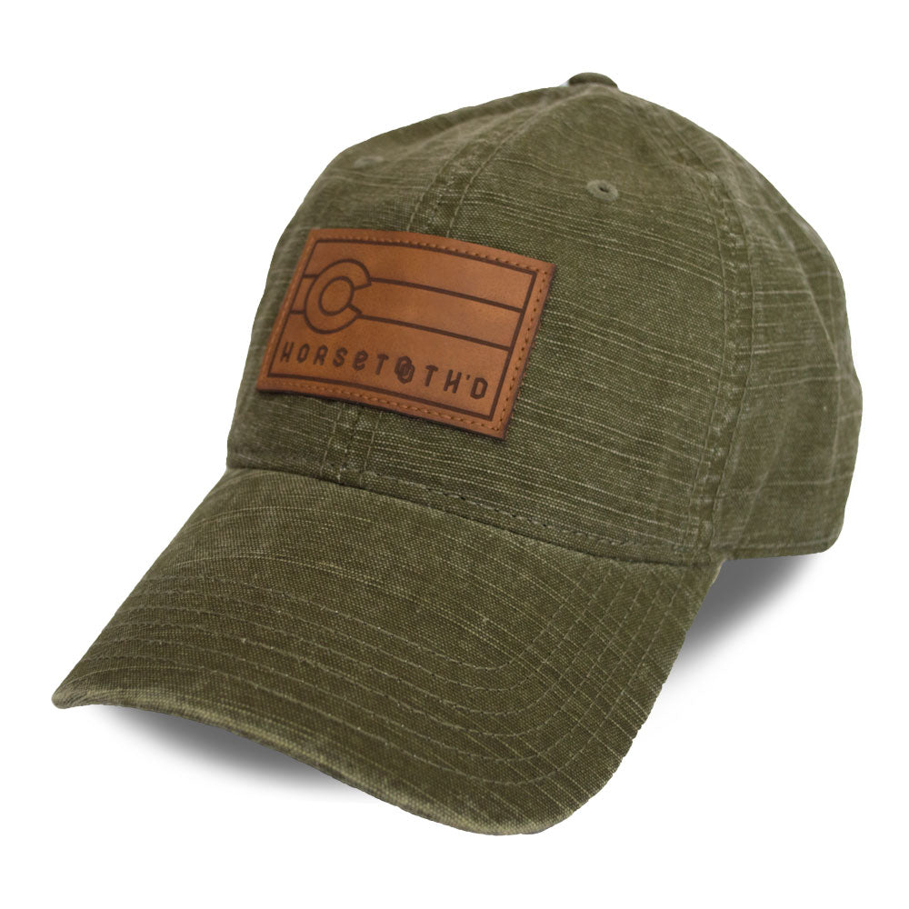 Slub Canvas Hat w/ Leather Patch