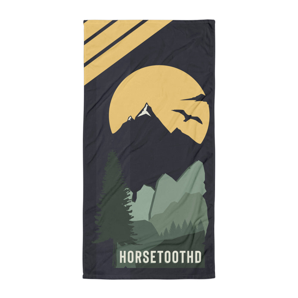 Horsetooth'd Spectrum Beach Towel