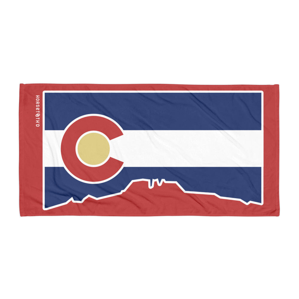 Colorado Flag Cutout Beach Towel