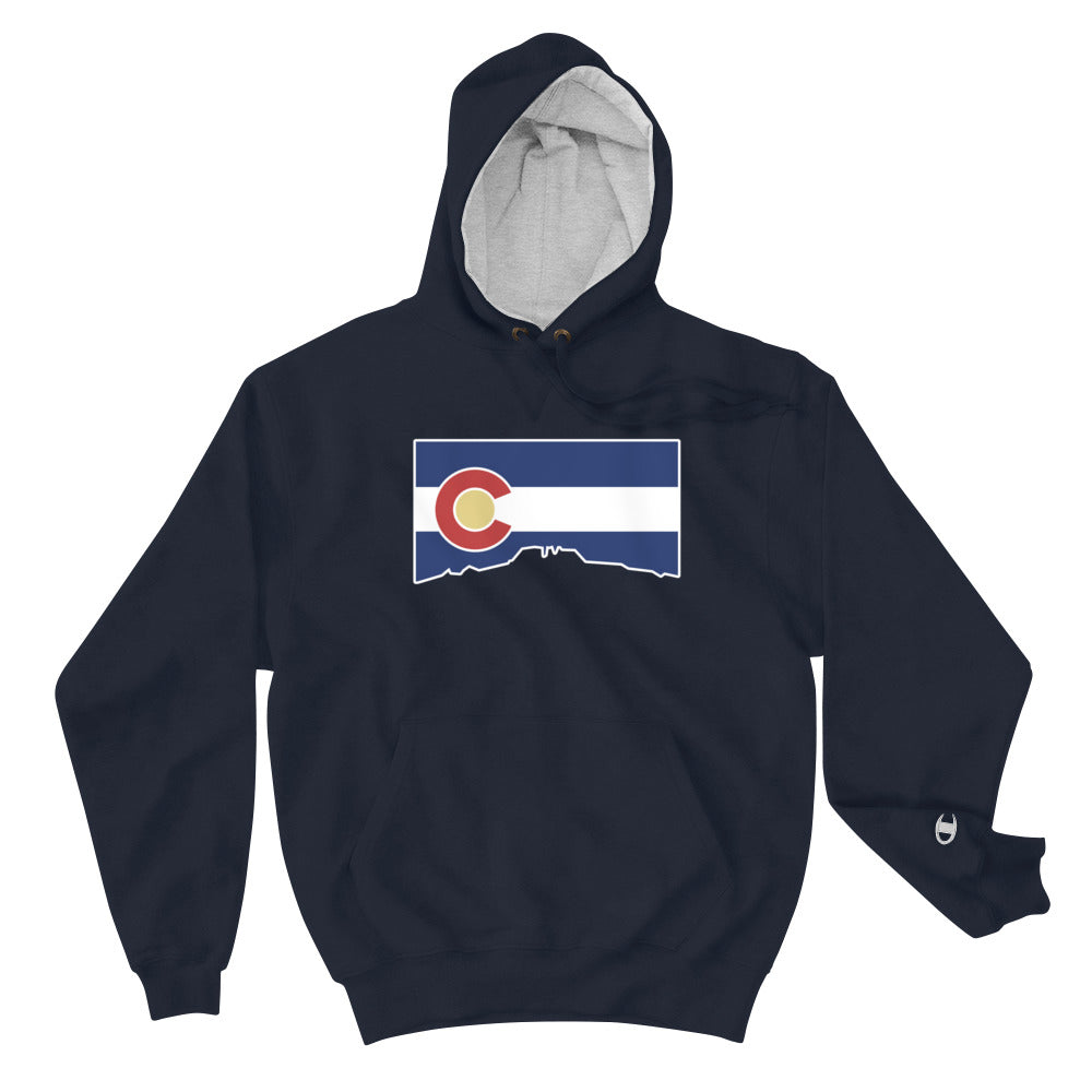 Colorado Flag Cutout Champion Hoodie