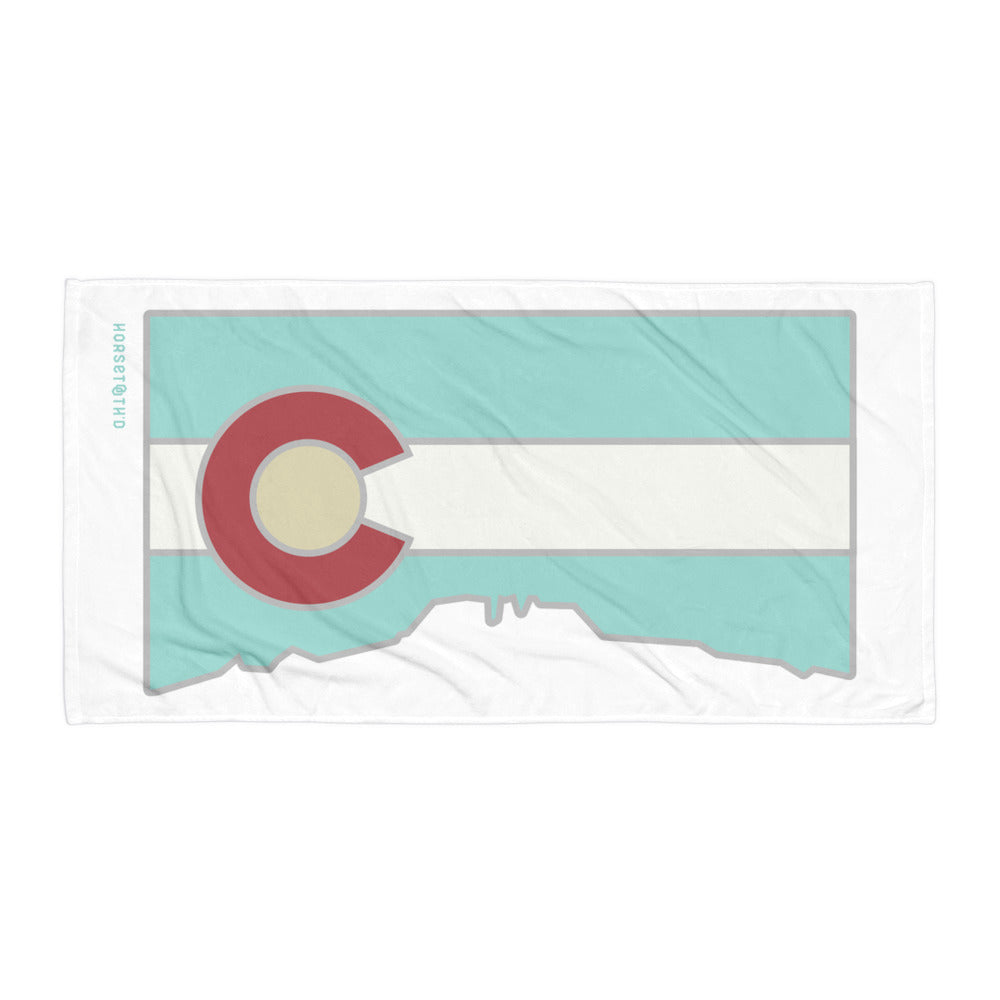 Retro Horsetooth'd Flag Beach Towel