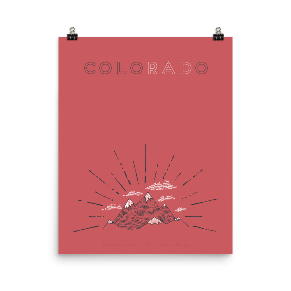 Colorado Burst Poster