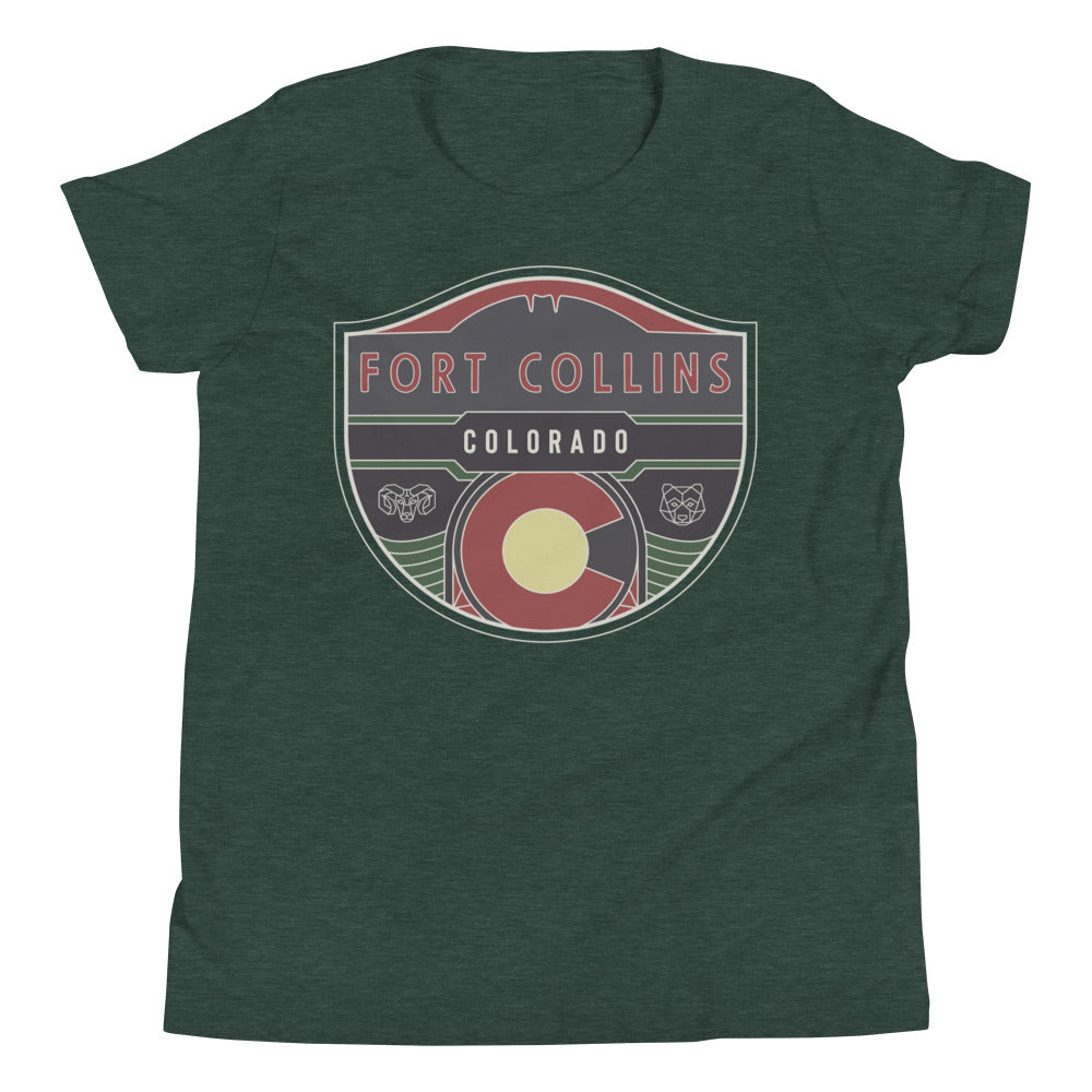 Fort Collins Badge Youth Tee Shirt