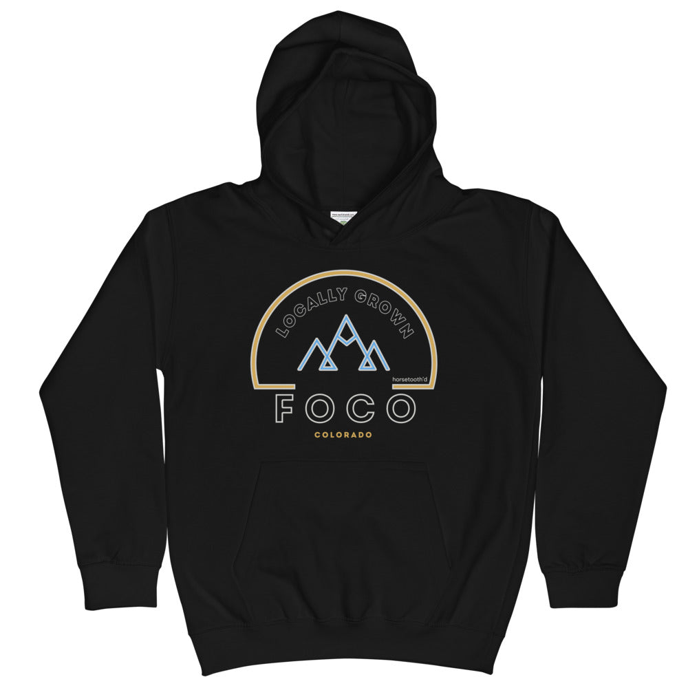 Locally Grown Mountains Youth Hoodie