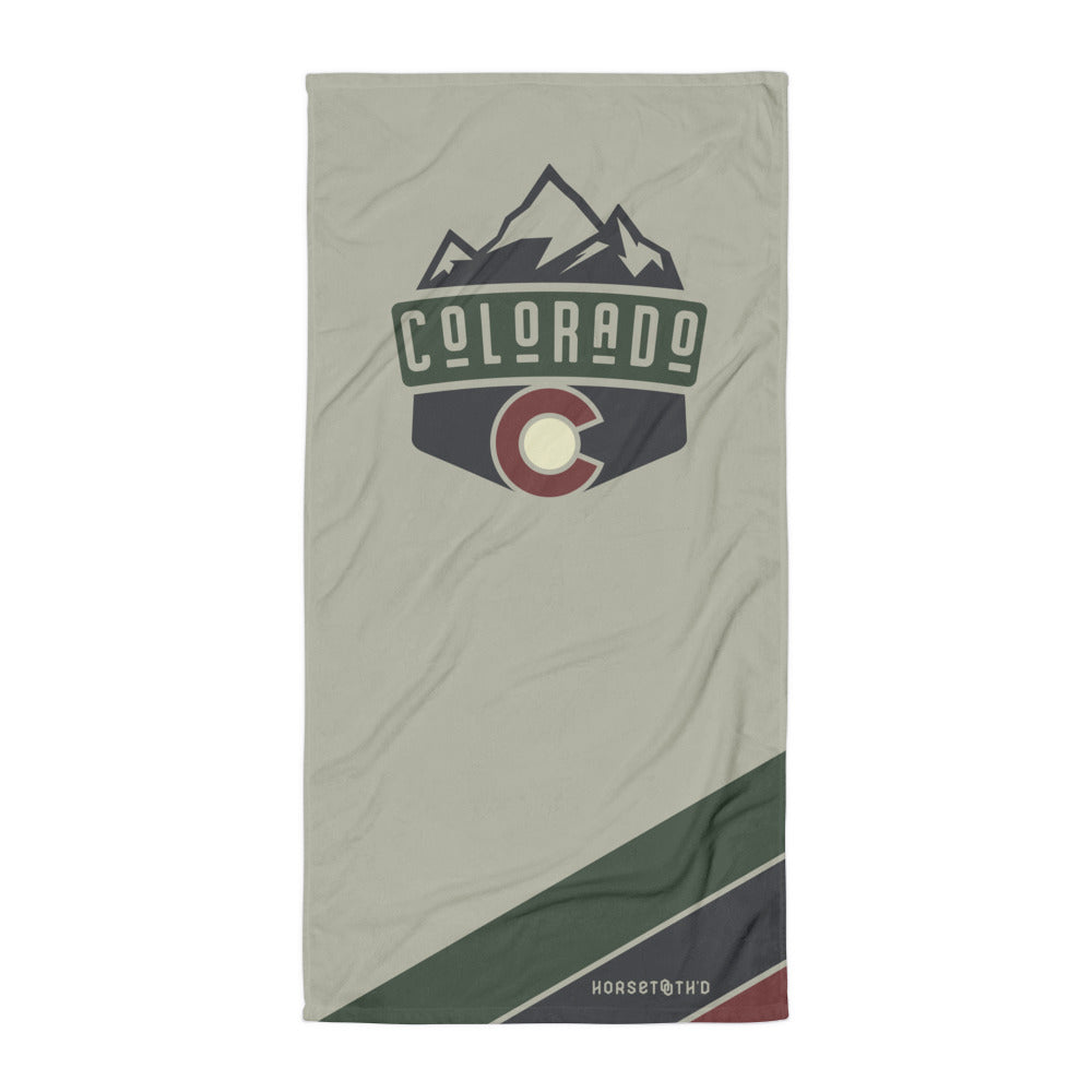 Classic Colorado Badge Beach Towel