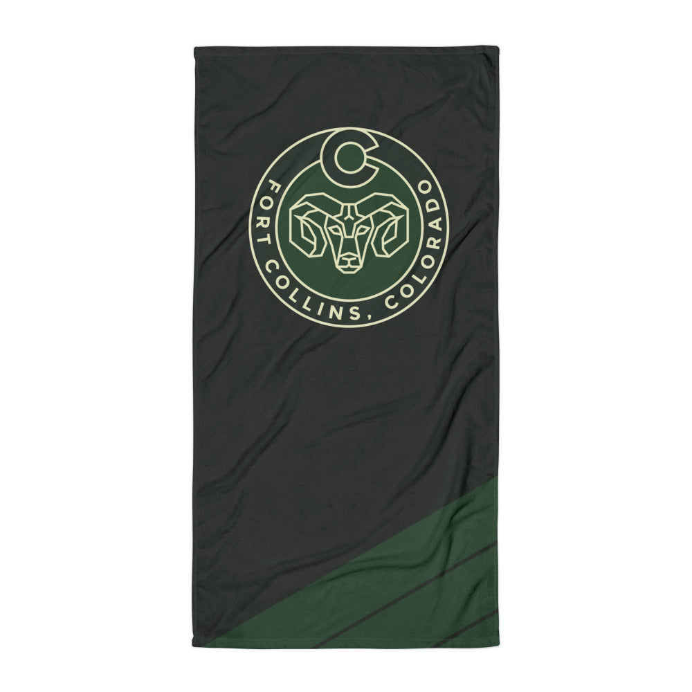 Fort Collins Ram Beach Towel
