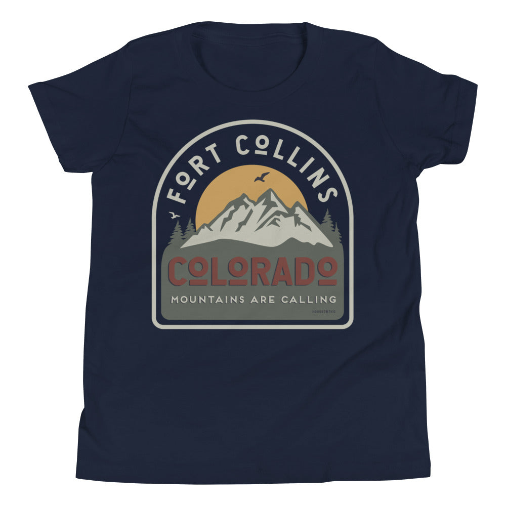 Fort Collins Mountains are Calling Youth Tee Shirt