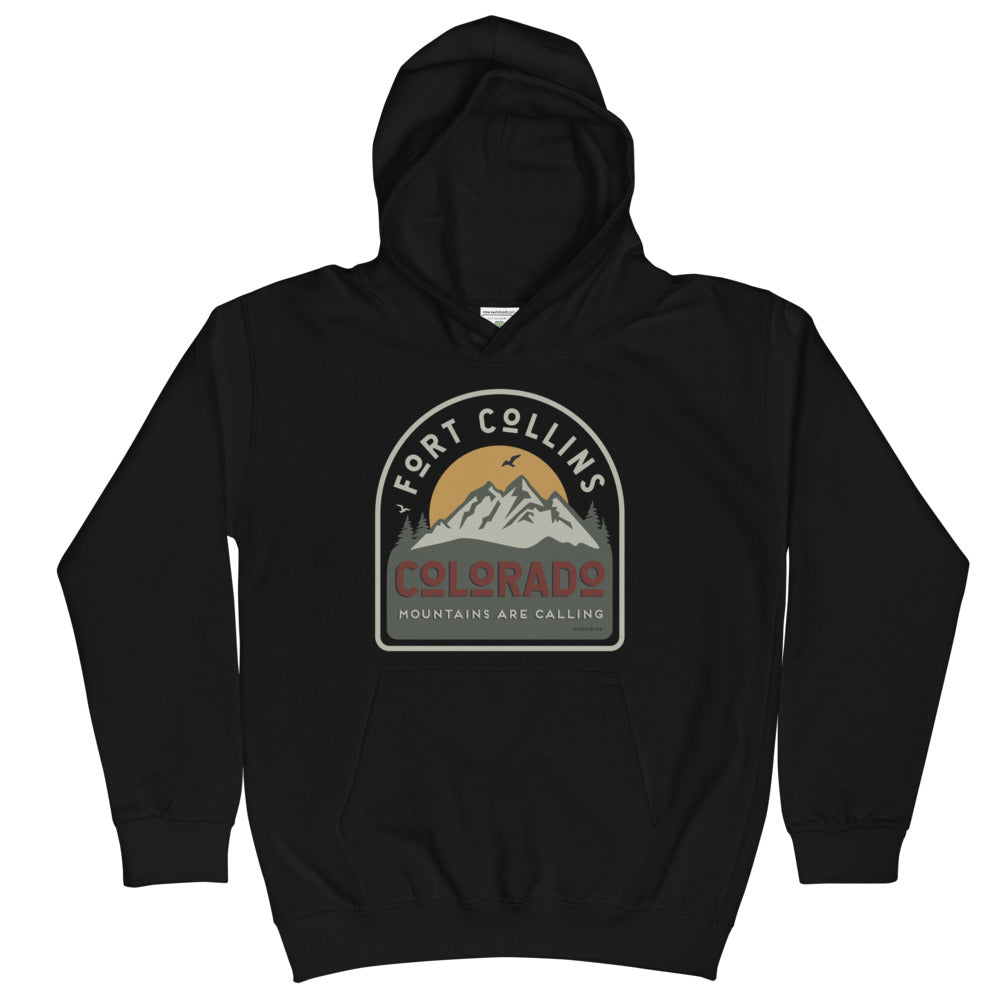 Fort Collins Mountains are Calling Youth Hoodie
