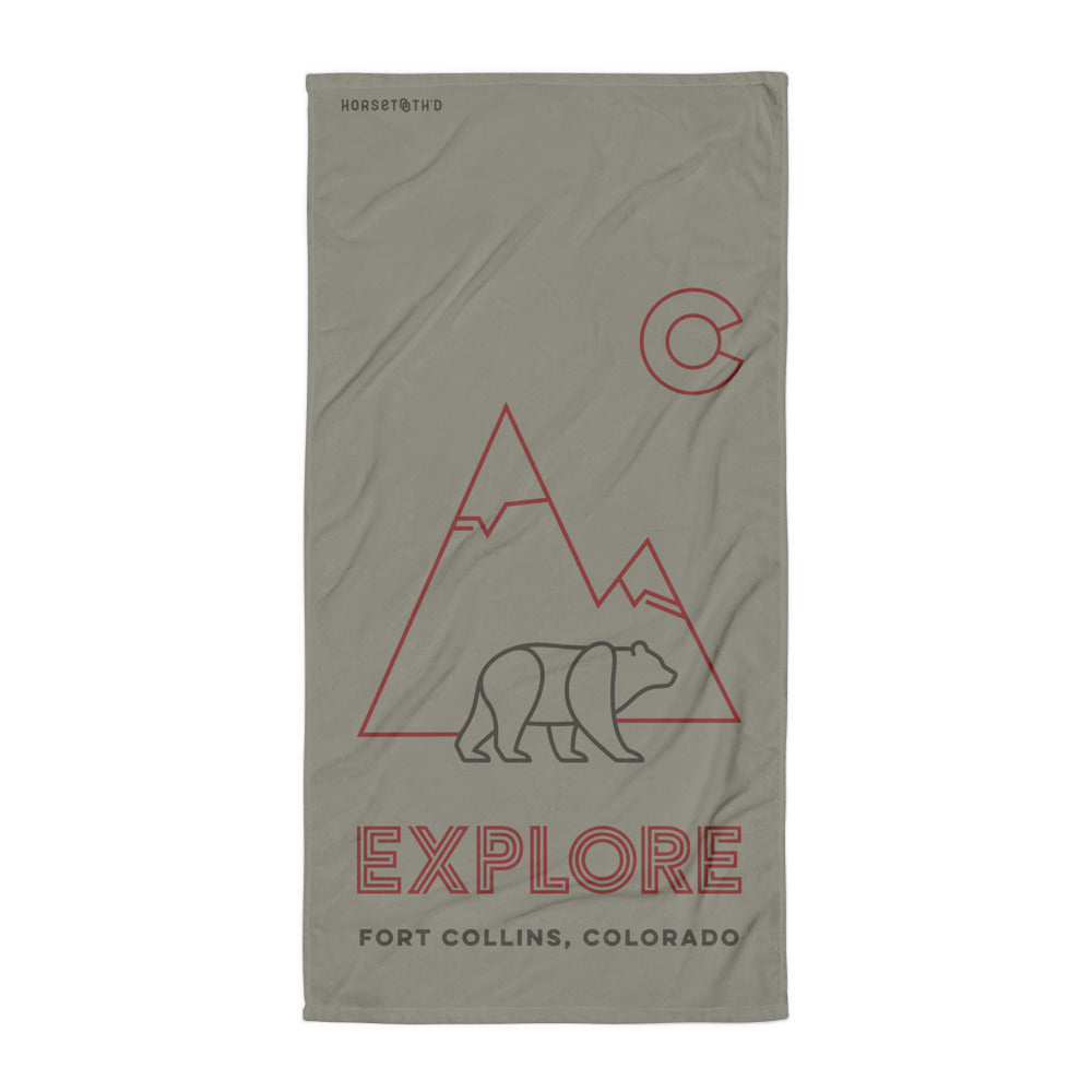 Explore Bear Beach Towel