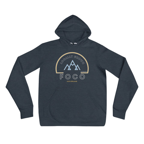 Locally Grown Mountains Unisex Hoodie