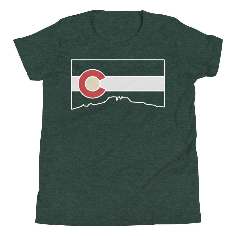 Flag Cutout Youth Tee Shirt