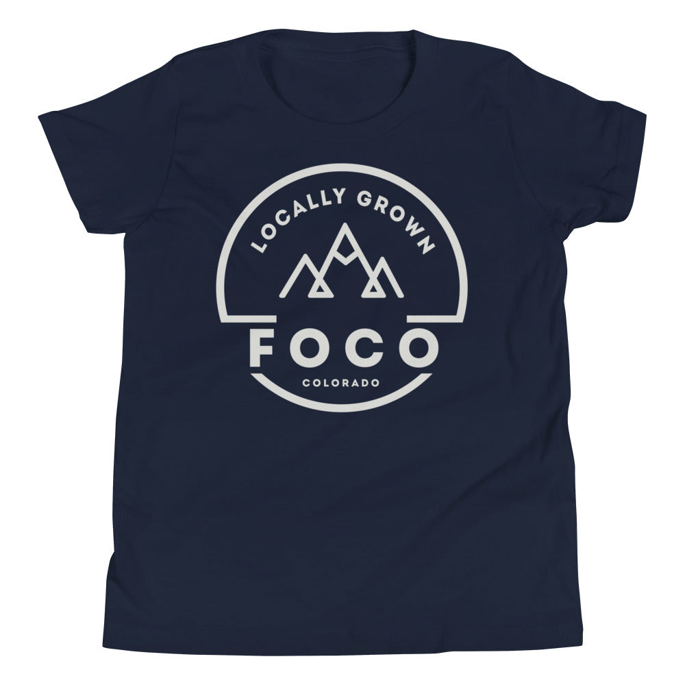 Locally Grown Mountains Youth Tee Shirt