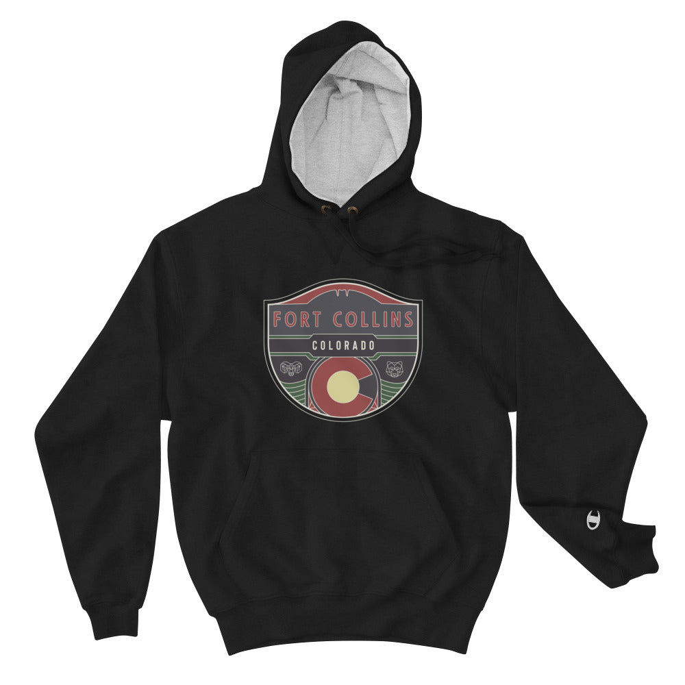 Fort Collins Badge Champion Hoodie