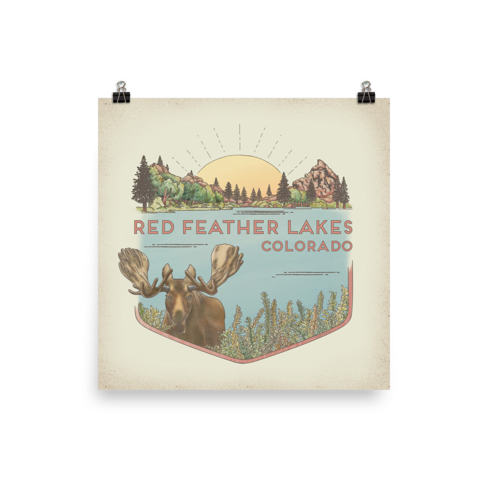 Red Feather Lakes (color) Poster