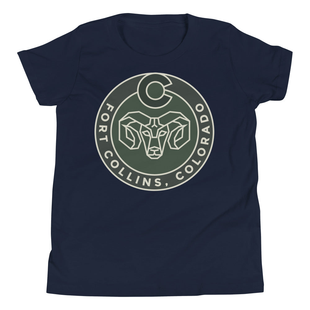 Fort Collins Ram Youth Tee Shirt